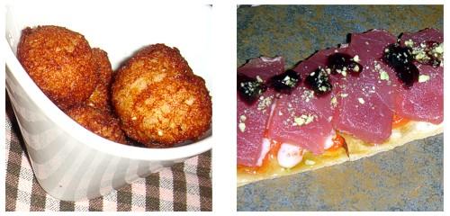 Buñuelos de bacalao & Pizzeta de atún
