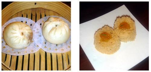 Pan chino con cerdo asado  &  Bizcochos de almendra