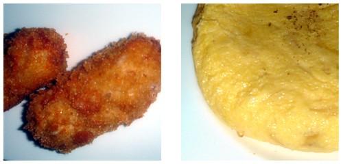 Croquetas de 'jamón jamón'  &  Tortilla de patatas 'hecha al momento'