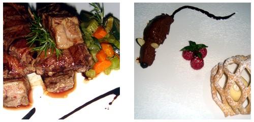 Roast-beef a dados  &  Topolino de chocolate