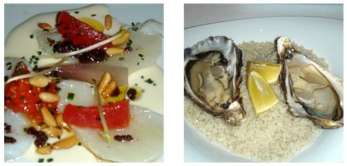 Esqueixada de bacalao  &  Ostras de Marennes-Oléron