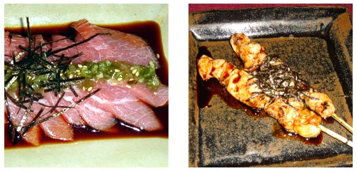 Toro to kizamiwasabi  &  Yakitori