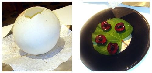 Globo de gorgonzola  &  Cerezas umebashi