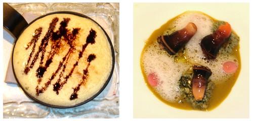 Tortilla japonesa  &  Crema de anémona y percebes