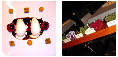 Cerezas con yema tostada, mastocarpus macerado y miso blanco  &  Carro de infusiones