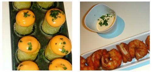 Patatas 3  &  Langostinos al curry