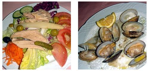 Ensalada de ventresca  &  Almejas de Carril