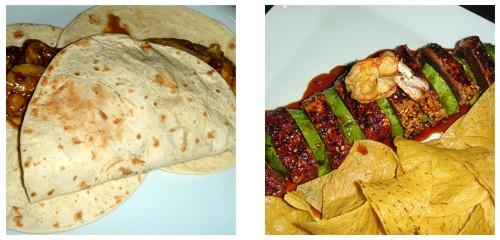 Tacos vegetarianos  &  Atún a los 3 chiles