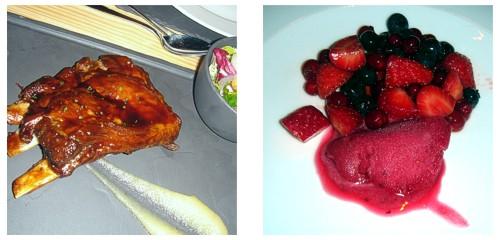 Costilla de cerdo ibérico  &  Macedonia de frutos rojos