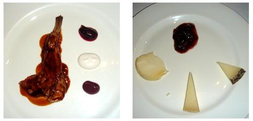 Espaldita de conejo  &  Selección de quesos de la Garrotxa