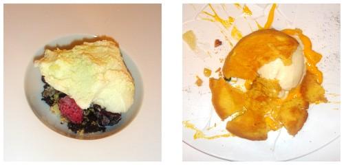 Iceberg  &  Pastel de limón