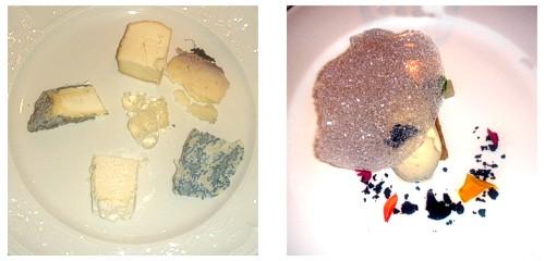 Selección de quesos  &  Biscuit de aceite con espuma de jengibre
