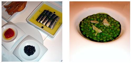 Sardinas marinadas  &  Guisantes del Maresme