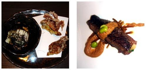 Onsen tamago  &  Rollito de carne