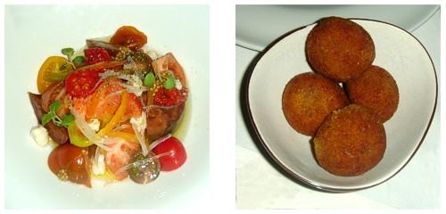 Ensalada de tomate con sardina  &  Croquetas de la yayi