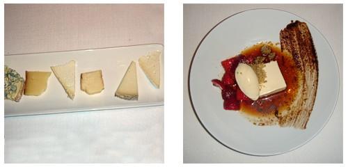 Mármol de quesos  &  Fresones con aceitunas