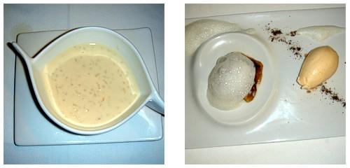 Arroz con leche  &  Torrija con helado de vainilla