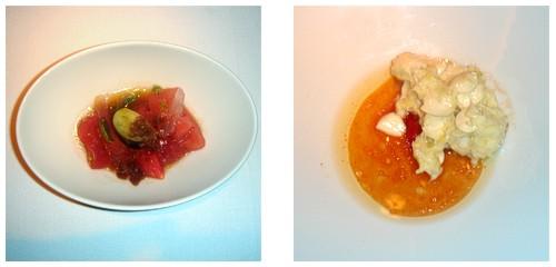 Trinxat de tomate  &  Brandada almendrada