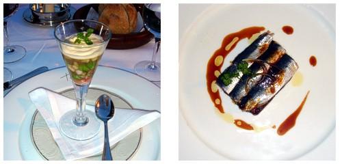 Áspic de bogavante  &  Terrina de sardinas y foie