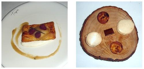 Tarta de pera  &  Petit-fours