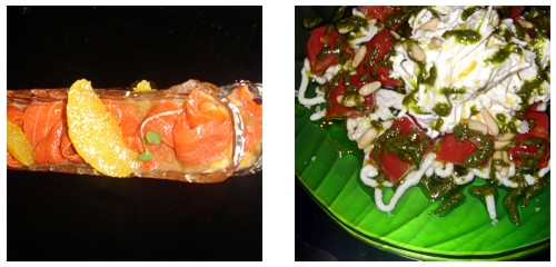 Salmón salvaje  &  Burrata con tomate