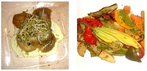 Berenjena  &  Salteado de verduras