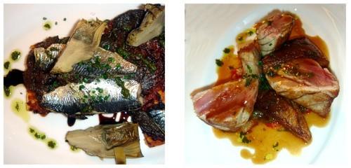Coca de sardinas  &  M+M