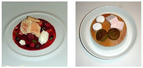 Frutos rojos y lácteos  &  Petit-fours