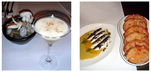 Cóctel de calvados  &  Sardinas marinadas