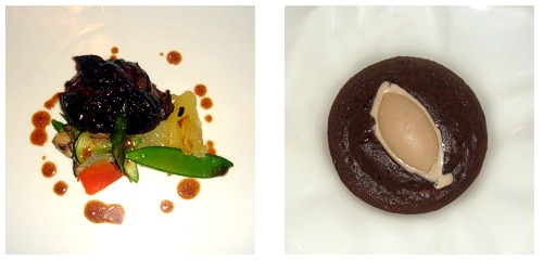 Solomillo de buey al fakir-cook  &  Coulant de chocolate