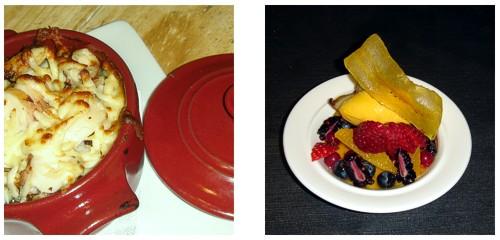 Pulpo asado  &  Ensalada de frutas