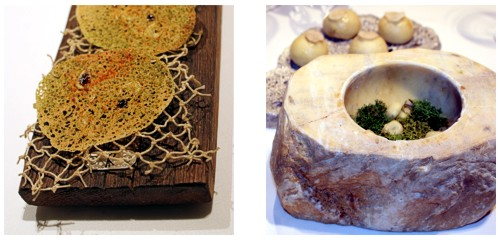 Snack de llangueta  &  Bombón de moixernó  &  Brioche de trufa