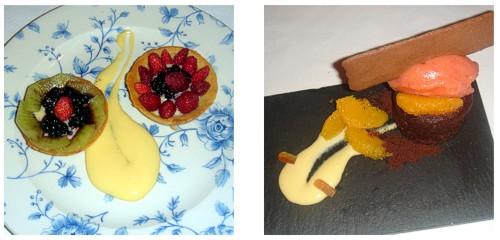 Tartaletas de frutas  &  Esponjoso de chocolate y naranja