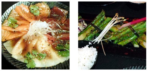 Sashimi moriawase  &  Espárragos trigueros