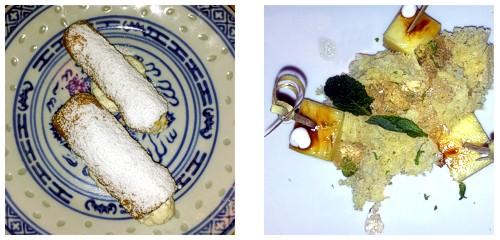 Canutillos de crema  &  Piña y lima
