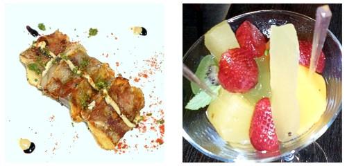 Oreja de cerdo  &  Frutas impregnadas