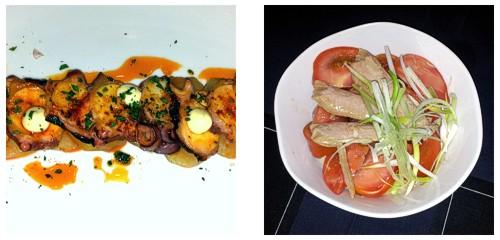 Pulpo  &  Ensalada de tomate