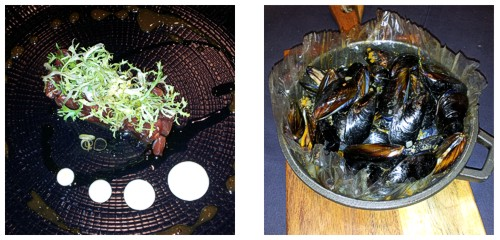 Tartar de atún  &  Mejillones en papillote