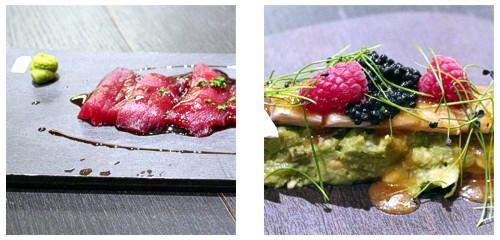 Sashimi de atún  &  Caballa lacada