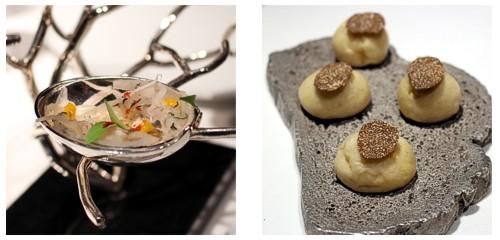 Ceviche de langosta  &  Brioche de trufa