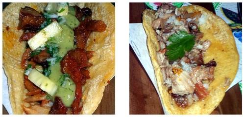 Taco pastor  &  Taco de carnitas