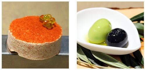 Polvorón de tomate  &  Disfrutar la oliva