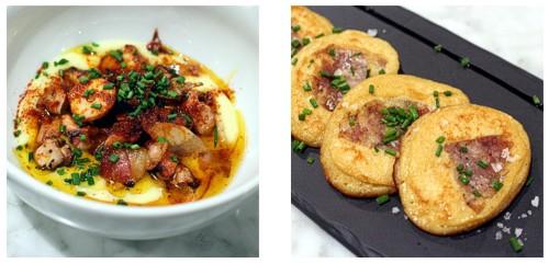 Pulpo  &  Tortilla de patata y butifarra