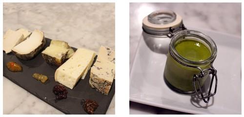 Tabla de quesos  &  Flan de té matcha