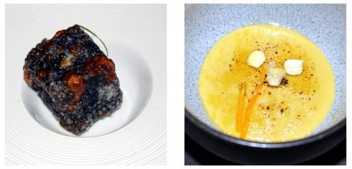 Dadinho de tapioca  &  Crème brûlée de foie