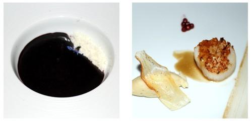 Gazpacho de açaí  &  Vieiras glaseadas