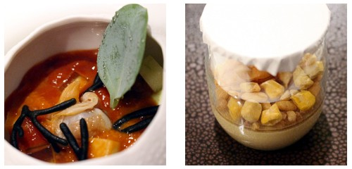El Mar  &  Yogur de foie-gras