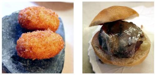 Croquetas de jamón  &  Miniburger