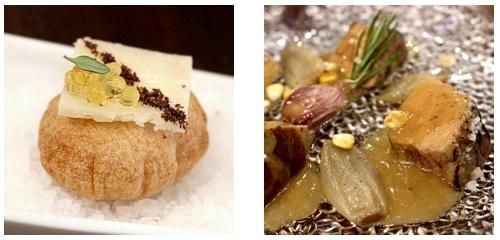 Mini air-baguette  &  Foie en escabeche