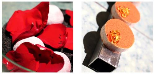 Remolacha  &  Polvorón de tomate